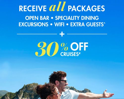 NCL 30% Off and All Free At Sea Upgrades