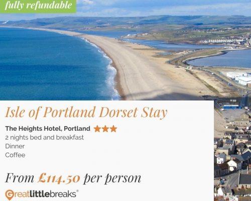 2 Night Isle Of Portland (Dorset) Break