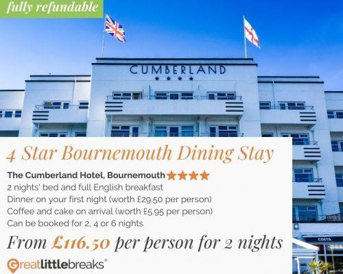 2 Night Bournemouth Dining Stay