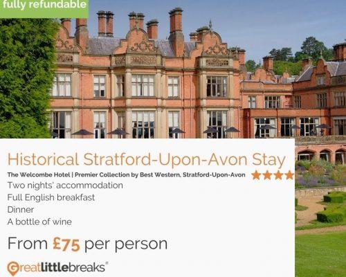2 Night Stay in Stratford-Upon-Avon